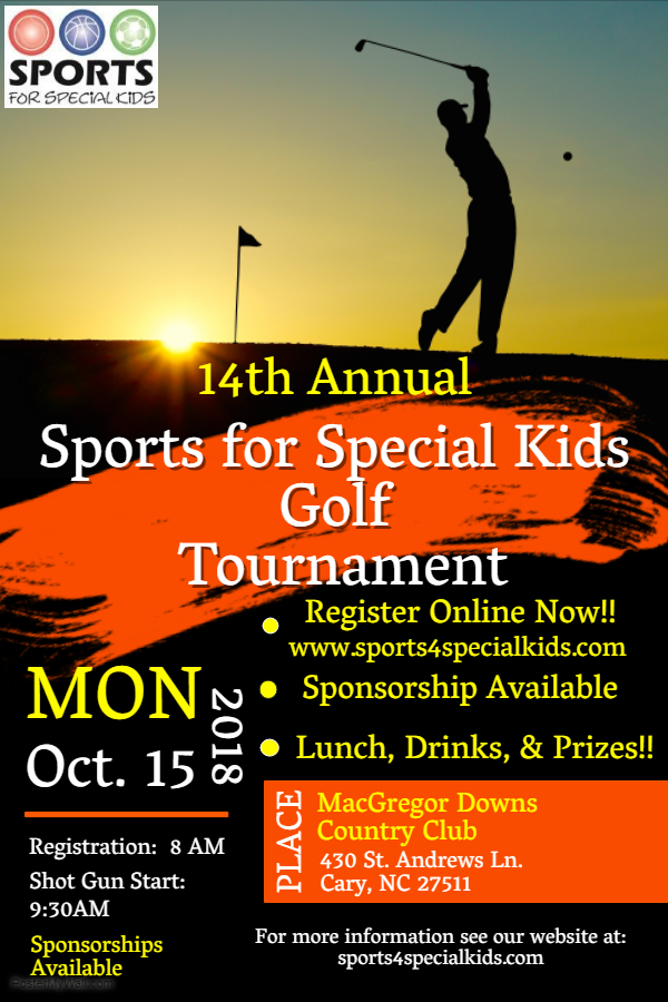 Sports For Special Kids 2018 Golf Tournament